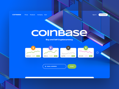 coinbase page landing xrp bitcoin icon illustration blockchain crypto coin ux ui website branding