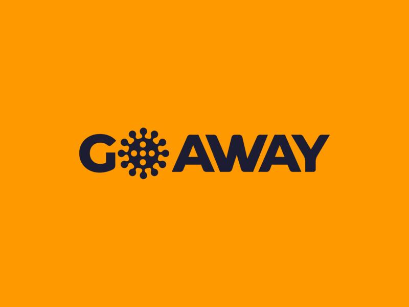 g✺ away corona health coronavirus virus corona icon identity logo branding illustration