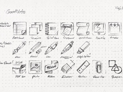 GoodNotes icon in process ios notes book pen pencil marker paper icon iphone apple ipad sketch drawing