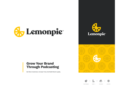🍋 Lemonpie mark website app identity illustration logo icon brand branding rebrand