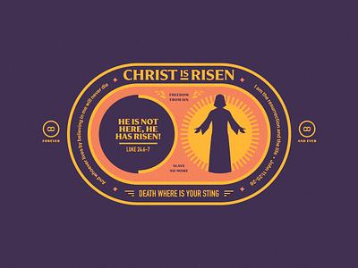 Christ is Risen patch illustration hope risen christ