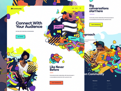community wild illustration identity ux ui site website design branding