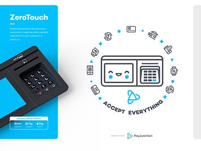 ZeroTouch Terminal app website iphone sketch mark logo branding illustraion shirt icon