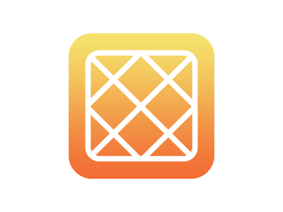 Waffle iOS7 style icon ios iphone ios7 apple wwdc 7 waffle food geometry