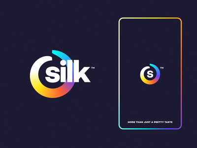 silk branding drawing design mark website app identity illustration icon logo branding silk
