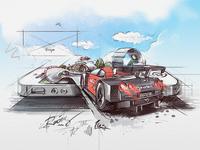 racing app *sketch