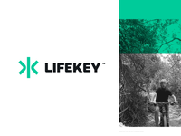 LifeKey Branding iphone mark website app identity illustration logo branding icon
