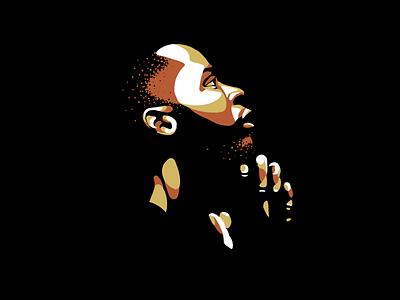 . design dude man prayer blm illustration