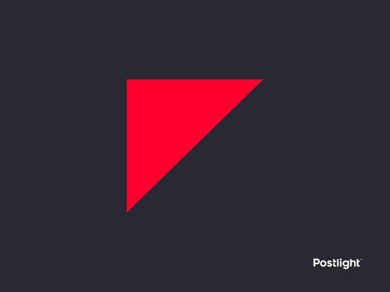Postlight - Logo Mark symbol identity branding icon light post logo