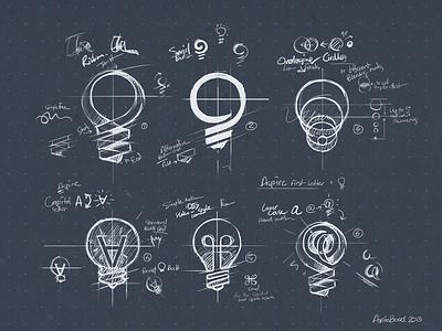 AspireBoard sketches sketch design logo logomark identity branding mark bulb light app