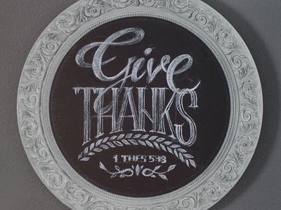 Give Thanks sketch chalk board lettering brush bible pencil chalkboard type thanksgiving pen