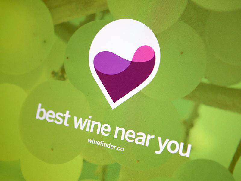 WineFinder wine map icon logo identity branding mark