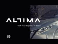 Nissan - Altima iphone sketch mark website app identity illustration logo branding icon