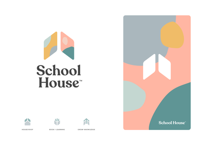 SchoolHouse iphone sketch mark website app identity illustration logo branding icon