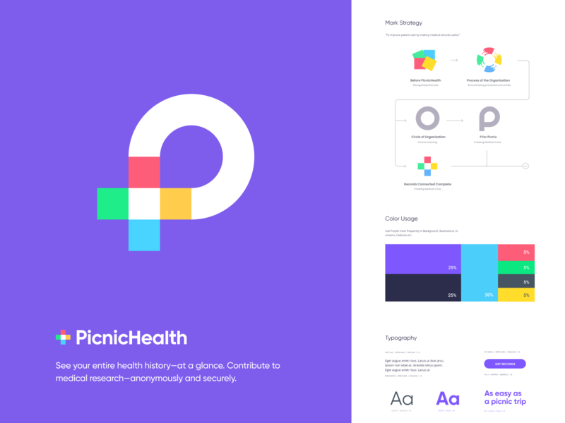 PicnicHealth drawing design iphone mark website identity illustration logo branding icon