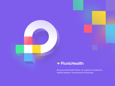 PicnicHealth design sketch mark website app identity illustration logo branding icon