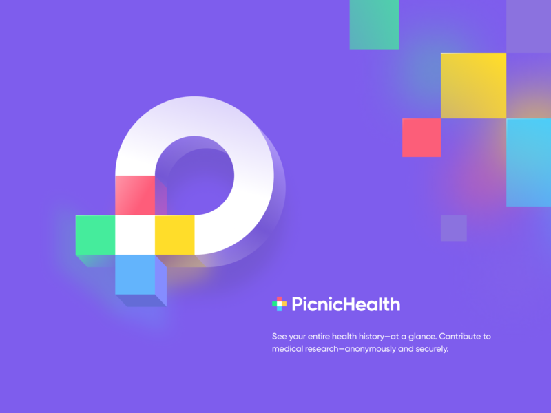 PicnicHealth design sketch mark website app identity illustration logo branding icon