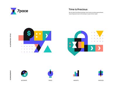 7pace design landing ux app sketch logo branding icon identity illustration
