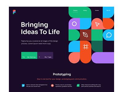 Figma tool ui illustration identity ux design figma branding website