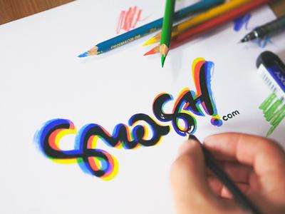 smash.com logo logo type identity branding smash calligraphy lettering hand pencil drawing sketch design