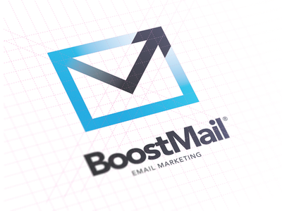 BoostMail Idenitity logo mark identity mail email envelope arrow boost illustrator