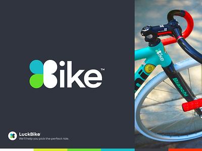 🍀Bike iphone sketch mark app website identity logo illustration branding icon