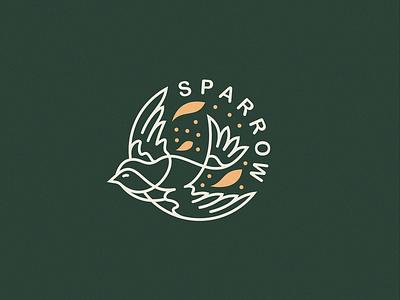 Sparrow  ui vector design website app identity logo illustration branding icon