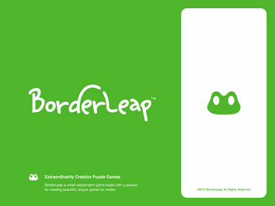 BorderLeap 🐸 vector ui design website app identity logo illustration branding icon