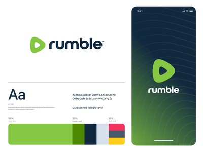 rumble vector ui design website app identity logo illustration branding icon