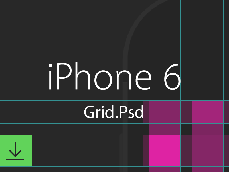 iPhone 6 Grid freeby psd grid iphone 6 ios8 apple phone template