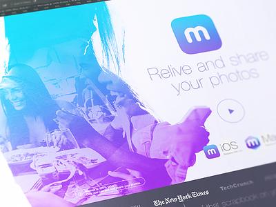 Memoir Landing Page website landing memoir app ios mac apple web ui