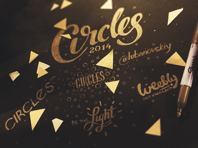 #Circles2014 conference lettering type sharpie circles