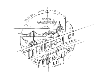 SF Dribbble Meetup meetup tag badge label logo dribbble video process sketch drawing gif
