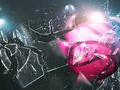 Shattered Backboard backboard smashing shatter dribbble ball glass breaking lights