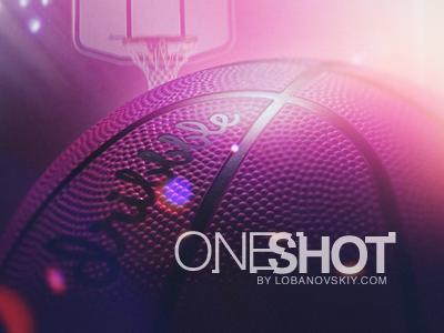 One Random Shot dribbble basket ball lights basket icon shot game playing pink purple