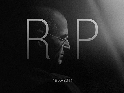 RIP Steve Jobs steve jobs apple rip dead death icon black and white 2011 iphone ipod ipad app