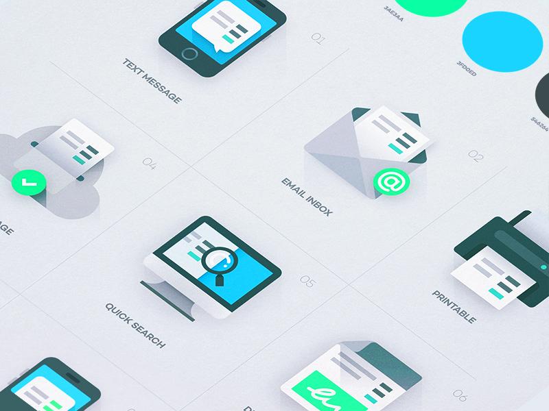 Receipt Icons web flat app vector design branding ios illustration icons