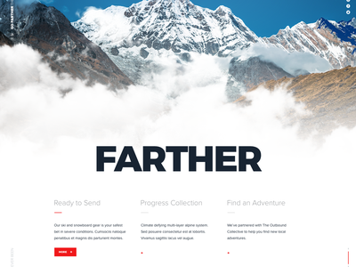 Exploring The North Face typography illustration identity animation gif interaction app branding cloud mountains site web