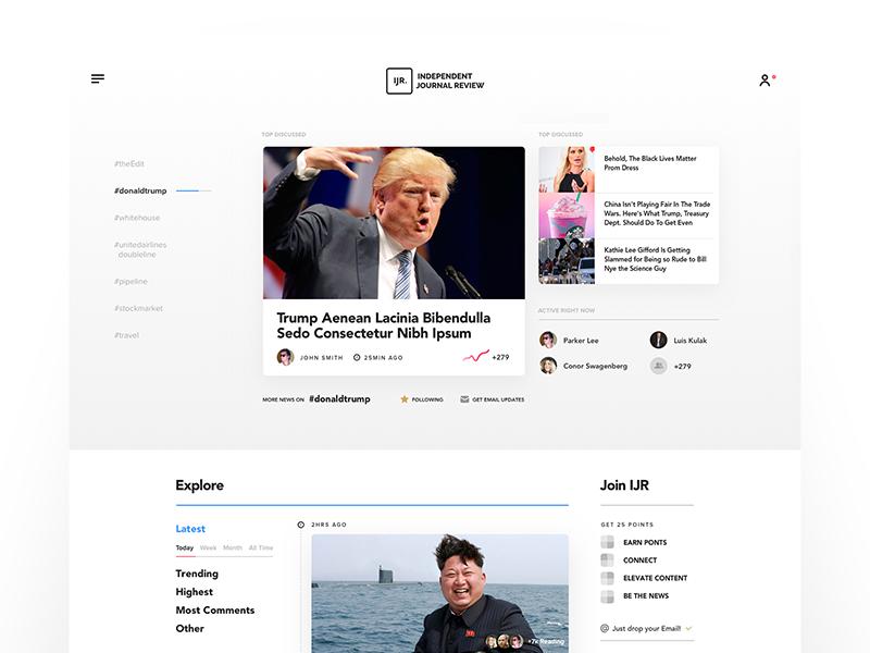 IJR - news site layout landing web site news