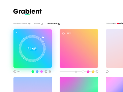 Grabient developer mobile design tool icon gradient app