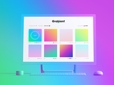 Grabient branding logo imac web app tool site website gradient