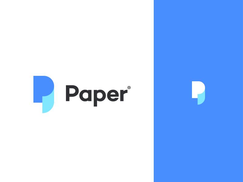 Paper flat simple paper letters logotype identity font type branding logo