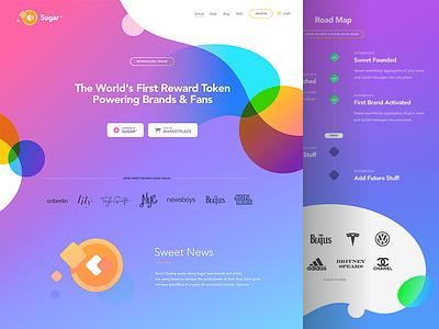 Sugar - Landing Page crypto coin desktop mobile web sweet illustration landing website