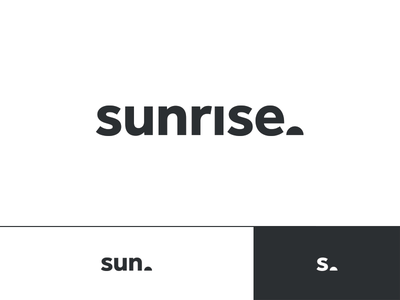 Sunrise task productive good morning sun type mark identity branding logo