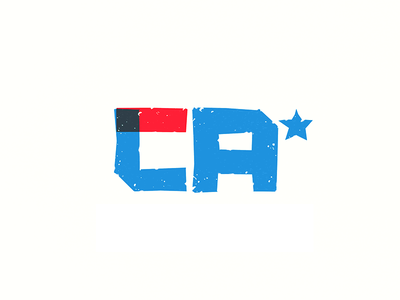 Los Angeles city state star real estate ca la type mark identity branding logo