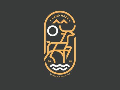 Deer logo identity branding mark icon drawing vector illustration icons