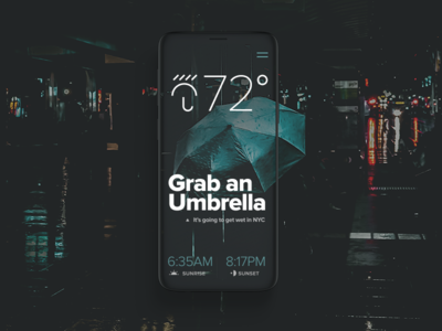 🌦 icon ux ui rain umbrella weather osx iphone mac ios app