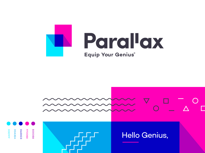 Parallax - Branding app typography mark icon parallax logo homely identity branding