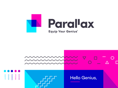 Parallax - Branding app typography mark icon parallax logo homely identity branding