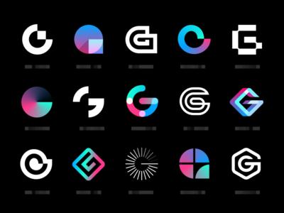 geez blockchain bitcoin crypto app letter g mark identity branding logo